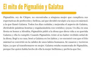 El mito de Pigmalión y Galatea - autoestima